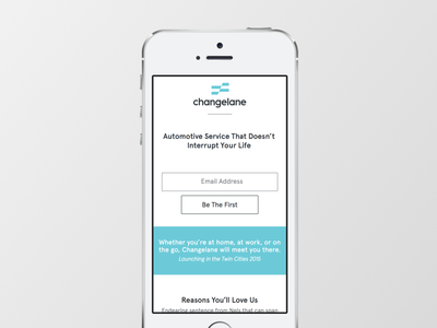 Changelane Mobile View mobile responsive ui