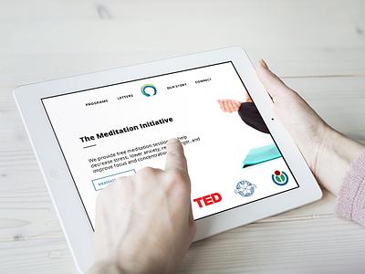 Meditation Initiative iPad ui responsive ipad