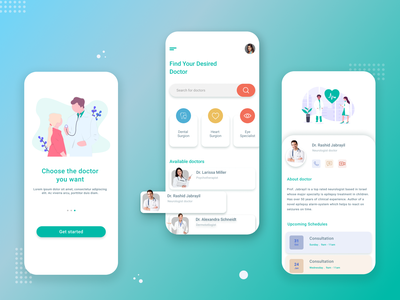 health app health app healthcare app ui design
