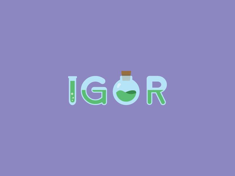 IGOR Logo logotype identity colourful flat design logo branding lab assistant igor