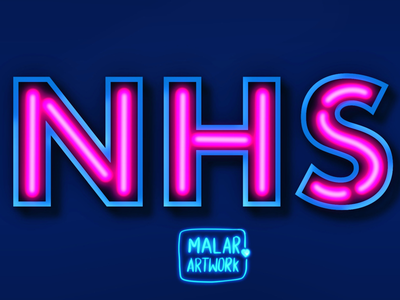 NHS typeface fonts typography neon illustration graphic doodles art colourful graphic design graphic designer