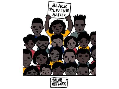 Black lives matter black spreadlove peace doodles art illustration blackout blacklivesmatter