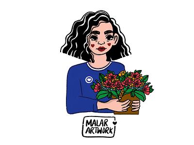 Spread love with 💐 dribble love plants flower floral colourful doodles graphic designer art design illustration