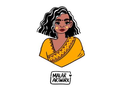 Indian character illustration behance artwork dribble indian graphic colourful doodles art illustration