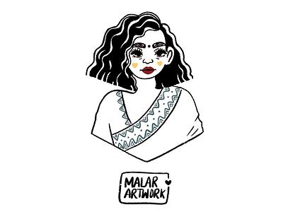 Indian character illustration london character procreate illustration graphic design design art indian