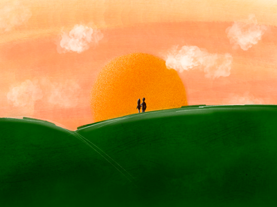 Sunset young love