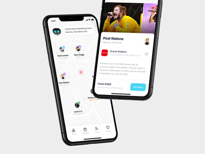 AI event aggregator with personalized recommendations events illustration apple iphone mobile sketch ios app design ux ui