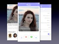 Pinder app - new dating application based API vk