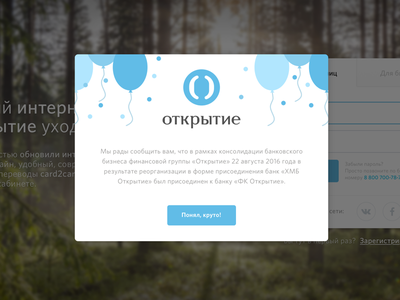 OpenBank popup notifications web illustrations design ux ui popup notifications bank open