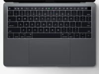 Sketch toolbar for Touch bar new MacBook