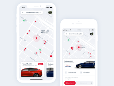 Tesla Carsharing iphone8 iphonex ios tesla design mobile ux ui app sharing booking car
