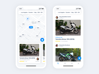 Spotbike - applications for motorbike sharing airbnb booking rent sharing share sharing economy bike mobile sketch ios ux design ui