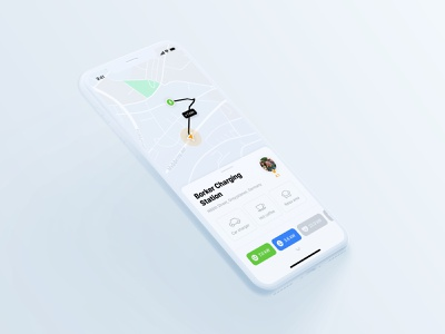 Cars charging sharing app ux ui design mobile sketch ios green carsharing charging app