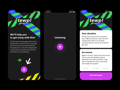 tewp! - get away with it ai lol kek apple iphone mobile app sketch ios design ux ui