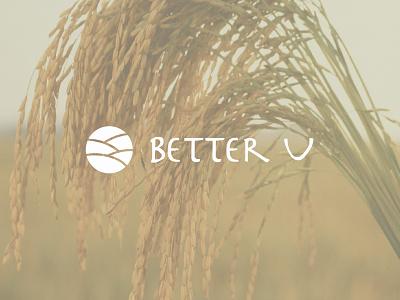 Jim Carrey Logo Contest Winner  brandmark typography better u foundation nonprofit farming rice jim carrey logo branding