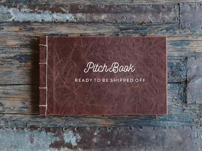 Pitch Book wood gigasavvy handcrafted custom leather advertising packaging proposal stitch sewn book binding pitch