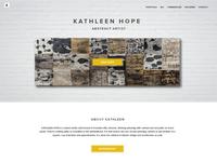 Artist homepage website sneak peak