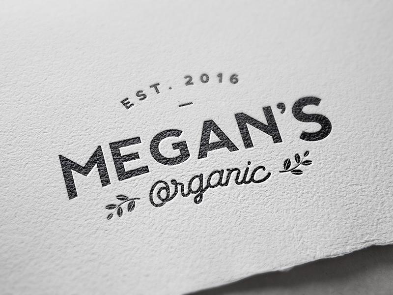 Organic food business branding project hipster established organic leaves branding logo seal