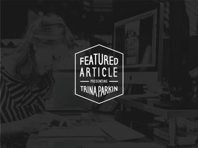 Meet Orange County graphic designer, Trina Parkin keyboard laptop computer mac sketching designing trina parkin overlay profile seal story article