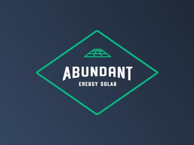 Recent branding project Abundant Energy Solar  energy solar green tech typography type logotype brand mark branding logo design identity logo
