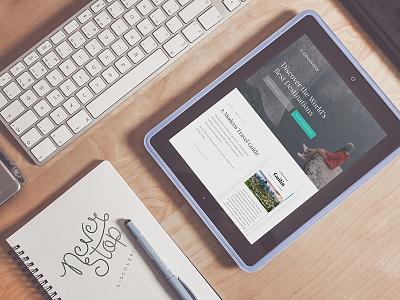 The Discoverer website facelist typography explore discover travel mockup homepage webdesign thedscvrr the discoverer