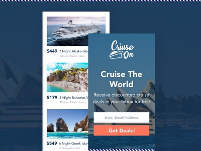 Cruise On Website Mobile Design mobile design identity homepage logo