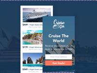 Cruise On Website Mobile Design