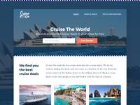 Cruise On Website Desktop Design