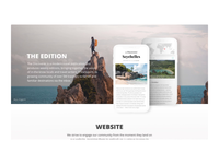 The Discoverer landing page Fast Company design wards mountains discover explore fast company mockup email desktop mobile parallax motion home blog giraffe color animation ux travel web design the discoverer landing page
