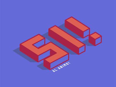 Si! Al animo! 3d lettering letters letter design ilustración digital diseño