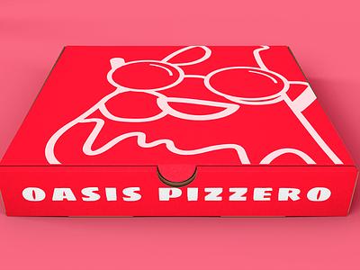 Oasis pizzero pizza box digital art diseño de producto diseñografico branding logo ilustración design digital diseño