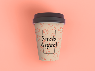 Simple and good cup cafeteria cafe logo cafe diseño de producto cup typography branding logo design digital diseño