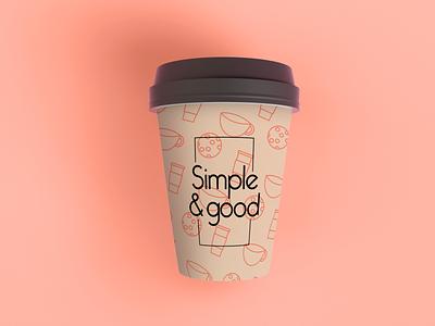 Simple and good cup cafeteria cafe logo cafe diseño de producto cup typography branding logo design digital diseño