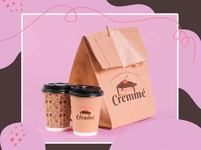 Cremmé-packaging packaging typography branding logo design digital diseño