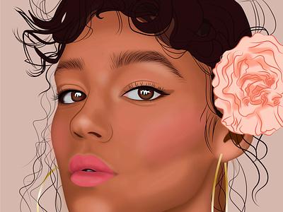 Flower art vector rosa draw arte digital design chica diseño ilustración
