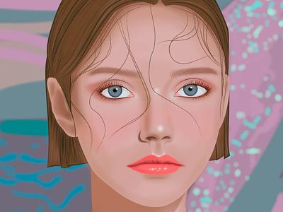 Water agua vector draw arte digital design chica diseño ilustración