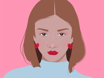 Bombom Heart rosa art vector draw chica arte digital design diseño ilustración