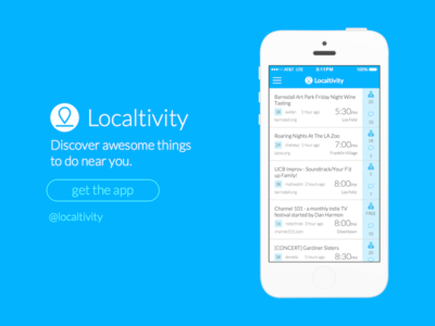 Localtivity Landing Page
