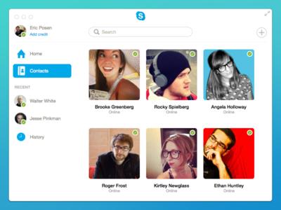 Skype for Mac Redesign skype mac osx os x flat redesign