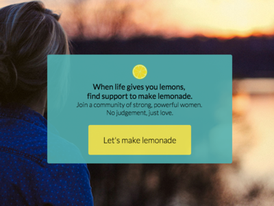 Mockup For Lemonaid uiux landing page