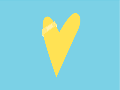 LemonAID icon bandaid yellow heart lemon