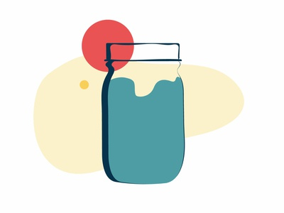 Mason Jar flat  design illustration