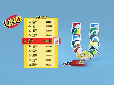 daily ui  019 [ leaderboard ] daily ui 019 uno game leaderboard dailyuichallenge daily ui dailyui web ux ui graphic design design art