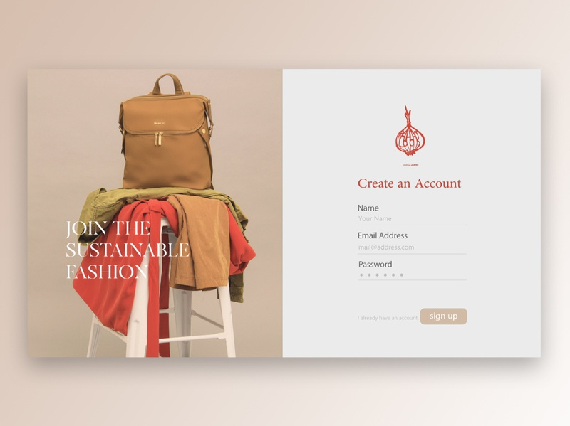 Daily UI Day 1 - Vintage Shop Sign Up Page web design ux ui