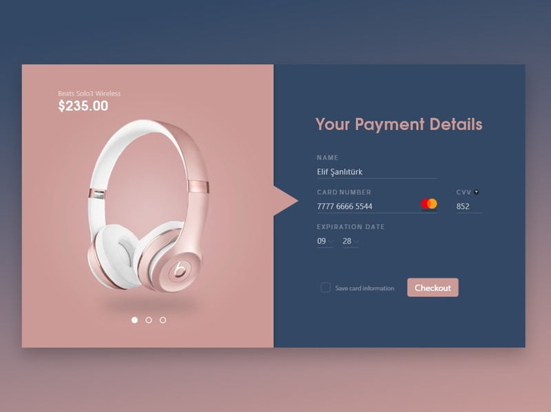Daily UI #2 Credit Card Checkout Page Design minimal dailyui 002 dailyui website web design ux ui