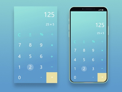 Daily UI #4 Calculator Interface Design dailyui daily ui 004 design ux ui
