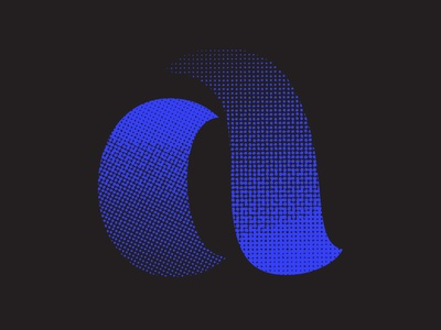 A^3 36daysoftype illustration blue texture icon logo design logo vector lettering typography