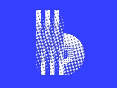 More b's vector art texture blue logo design logo icon identity lettering typography 36daysoftype07 36daysoftype