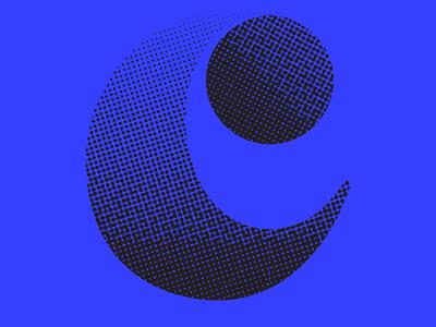 Curvy blue halftone texture identity vector logo design font design lettering typography 36daysoftype07 36daysoftype