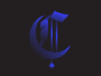 Good Charlotte Vibes logo design blue texture blackletter font design vector identity branding lettering typography 36daysoftype07 36daysoftype